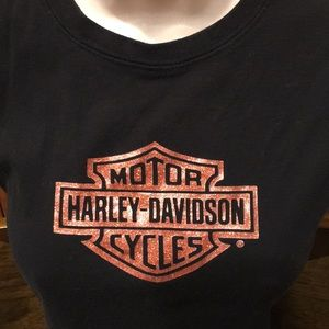 Harley Davidson Black Sleeveless Cotton Top Size M